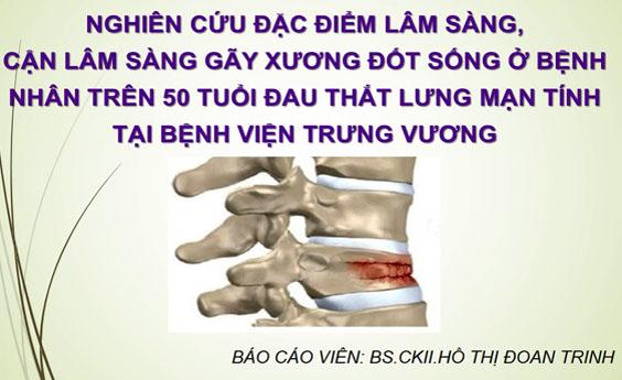 Tài liệu: Nghiên cứu đặc điểm lâm sàng, cận lâm sàng gãy xương đốt sống