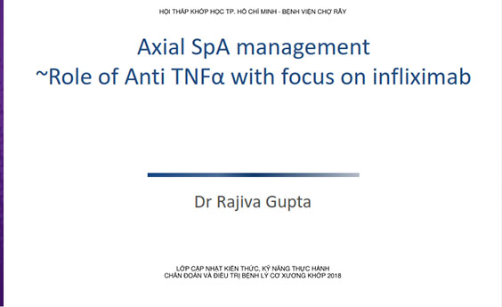 Tài liệu: Axial SpA management - Role of Anti TNFα with focus on infliximab - CME 2018