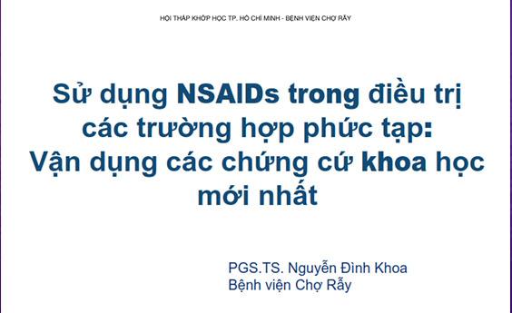 Tài liệu: Vận dụng chứng cứ khoa học mới nhất về NSAIDS... - CME 2018