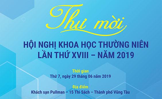 Thư mời Hội nghị khoa học thường niên lần thứ XVIII - Năm 2019