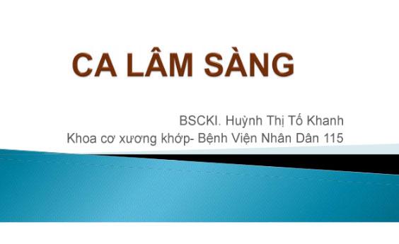 Ca lâm sàng VCSDK- Secukinumab - BSCKI Huỳnh Thị Tố Khanh