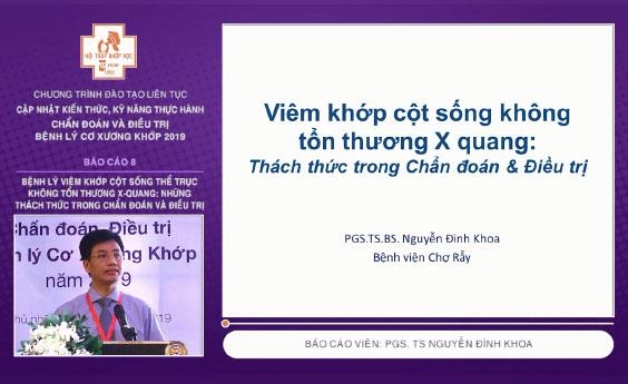 [Tài liệu] Sử dụng các chỉ số hoạt tính bệnh viêm cột sống dính khớp trên thực hành lâm sàng - TS. BS Huỳnh Văn Khoa