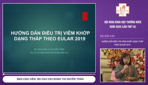 huong dan dieu tri viem khop dang thap eular 2019 bs doan thi huyen tran hnkh 2020 video
