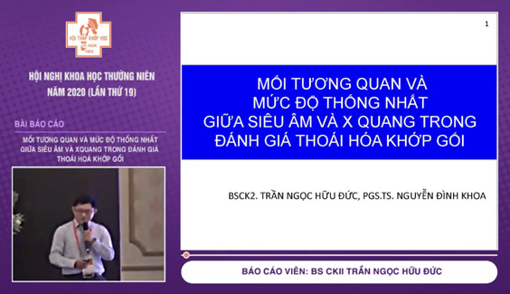 [Video] Mối tương quan và mức độ thống nhất giữa siêu âm và XQuang trong đánh giá thoái hoá khớp gối – BS CKII Trần Ngọc Hữu Đức